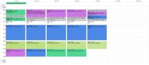 Gestión del tiempo semanal con Google Calendar utilizando Time Blocking
