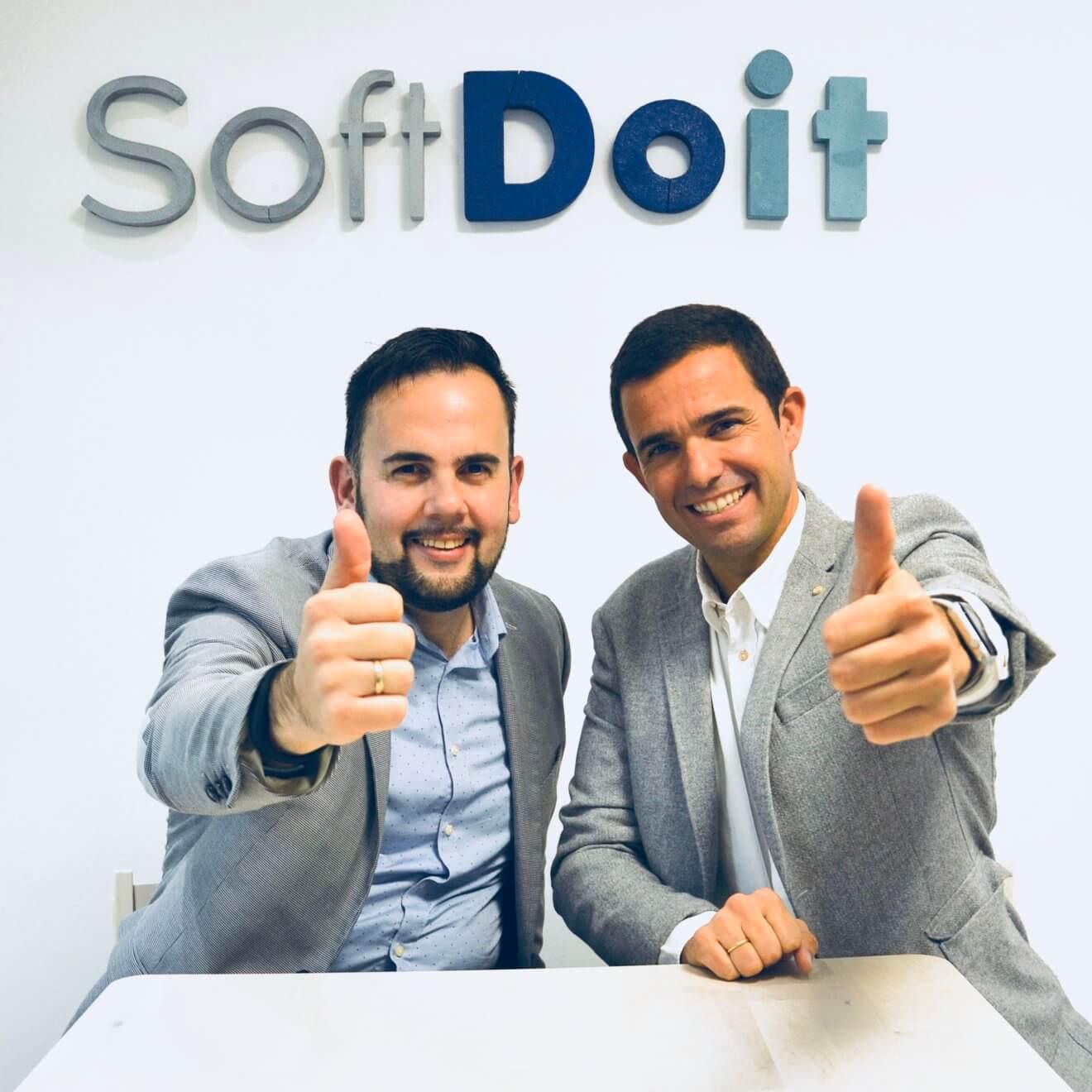 Eduardo y Lluís (CIO y CEO de SoftDoit)